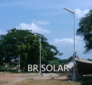 Afrique du Sud échantillon de l'ordre 6M40W All In One Solar Light, rue mai 2018